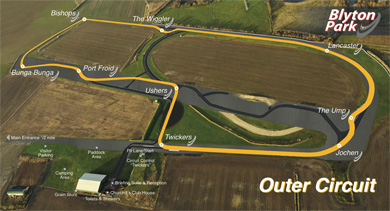 Blyton Park Circuit Map