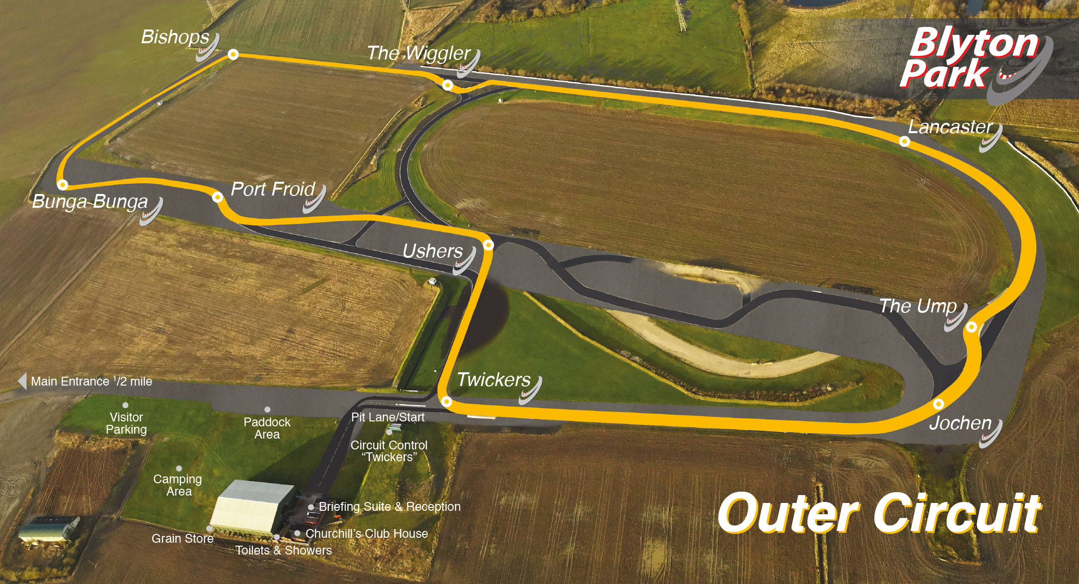 Map Of Uk Race Tracks.Blyton Park Track Days Race Circuit Track Days Lincolnshire