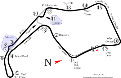 Oulton Park Circuit Map