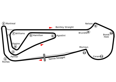 Snetteron Circuit Map